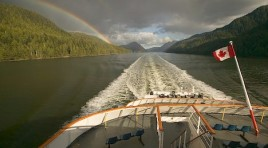 Cruising the Inside Passage near Port hardy